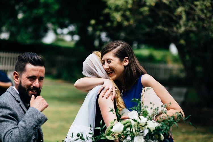 Bride in Navy Karen Walker Wedding Dress | New Zealand Wedding | Nigel John Photography
