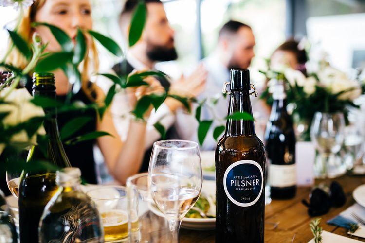 Brown Bottle & Greenery Decor | New Zealand Wedding | Nigel John Photography