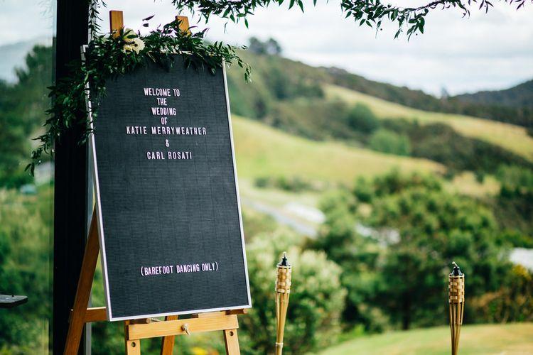 Barber Board / Peg Board Welcome Sign | Wedding Decor | New Zealand Wedding | Nigel John Photography