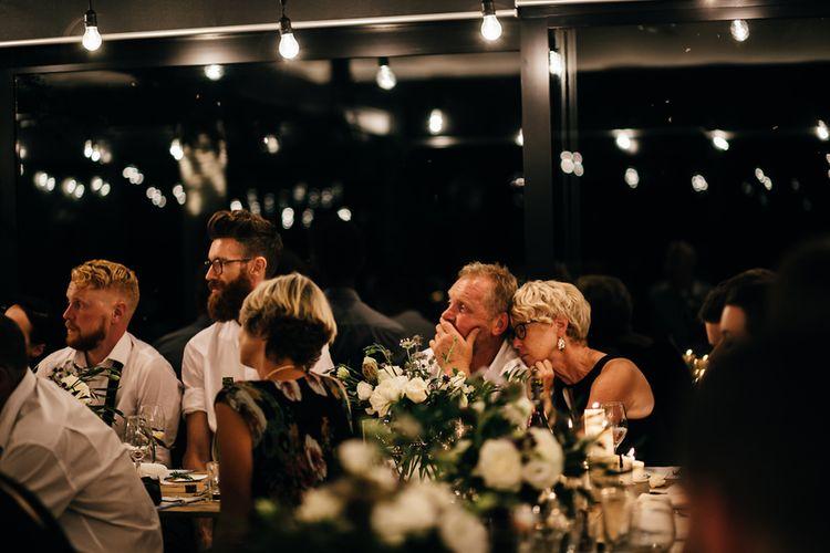 Festoon Lights Wedding Reception at Mann House | New Zealand Wedding | Nigel John Photography