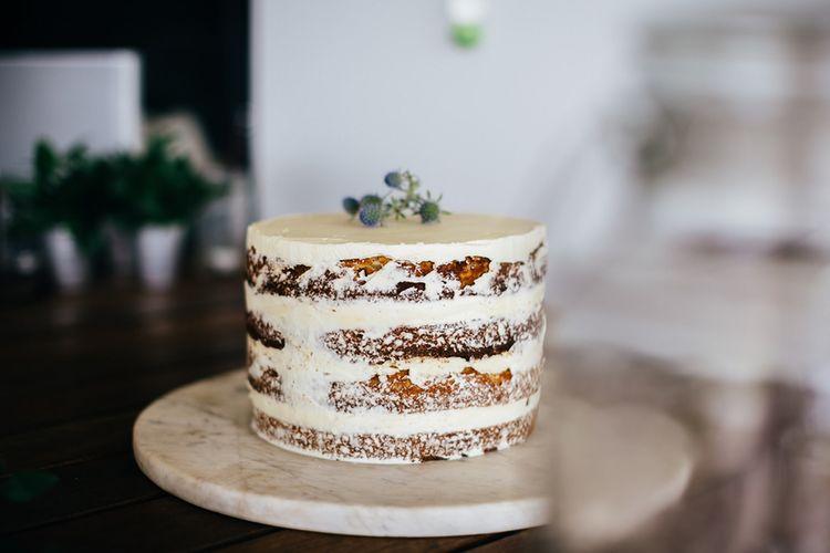 Semi Naked Wedding Cake | New Zealand Wedding | Nigel John Photography