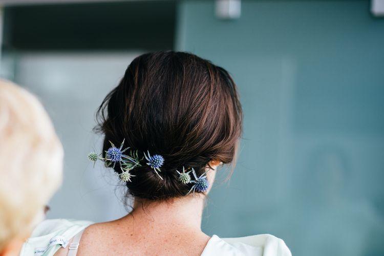 Bridesmaid Up Do with Flowers | New Zealand Wedding | Nigel John Photography