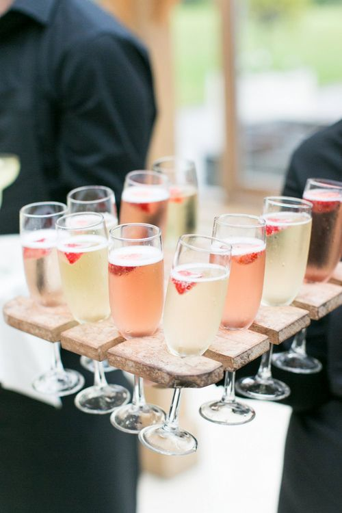 Prosecco Drinks Reception | Pastel Wedding at Gaynes Park | Anneli Marinovich Photography