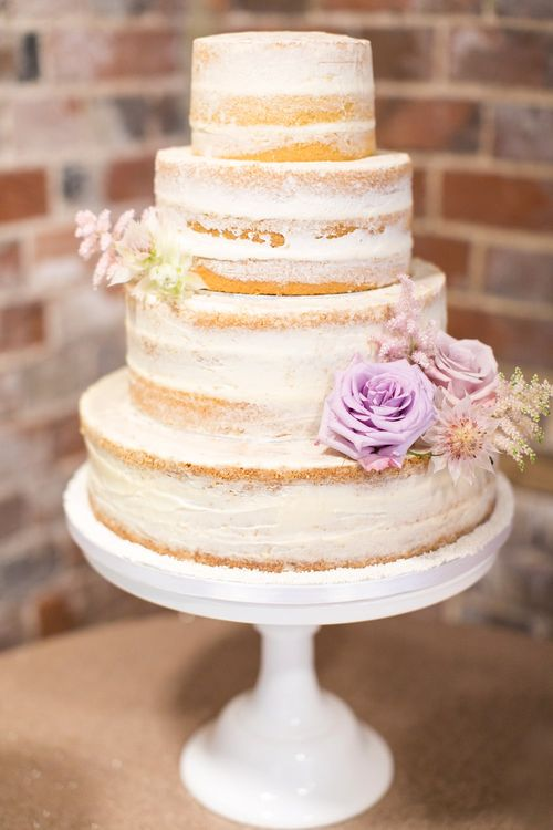 Semi Naked Wedding Cake | Pastel Wedding at Gaynes Park | Anneli Marinovich Photography