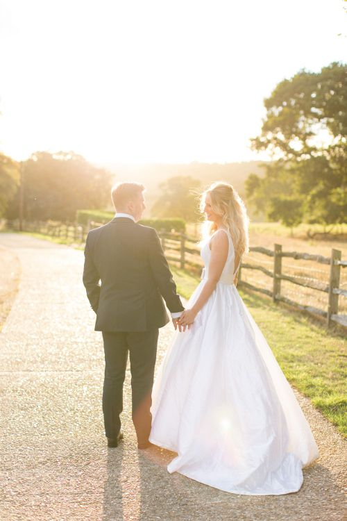 Sunset | Bride in Sassie Holdford Bryony Wedding Dress | Pastel Wedding at Gaynes Park | Anneli Marinovich Photography