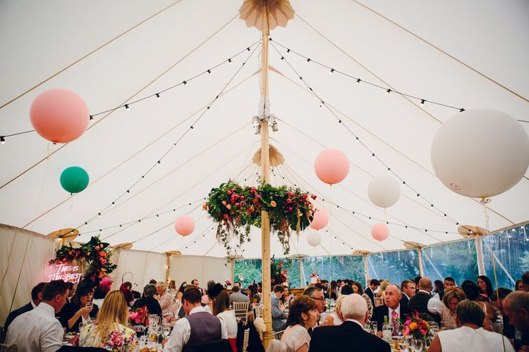 Bright Pink Peonies For A PapaKata Sperry Tent Wedding With Bride In Separates & Images From Amy B Photography