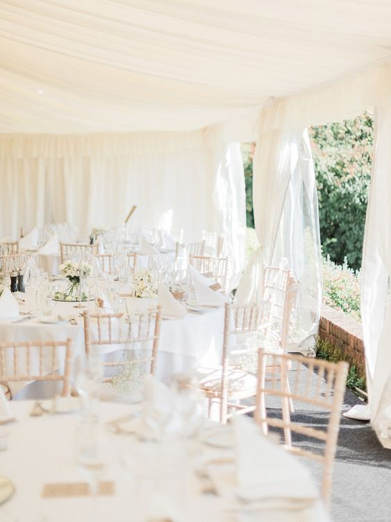 Elegant Summer Wedding With All White Decor