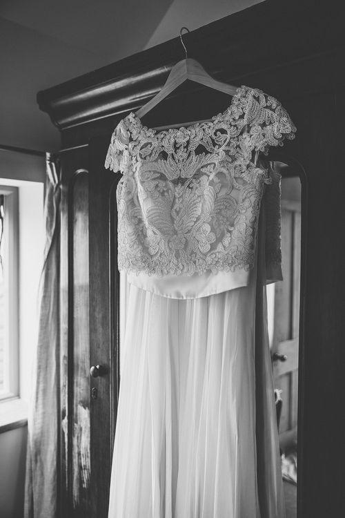 Catherine Deane Bridal Gown | Rustic Barn Wedding at Nancarrow Farm, Cornwall | Samuel Docker Photography