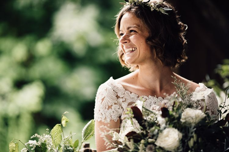 Beautiful Bride in Catherine Deane Gown | Rustic Barn Wedding at Nancarrow Farm, Cornwall | Samuel Docker Photography