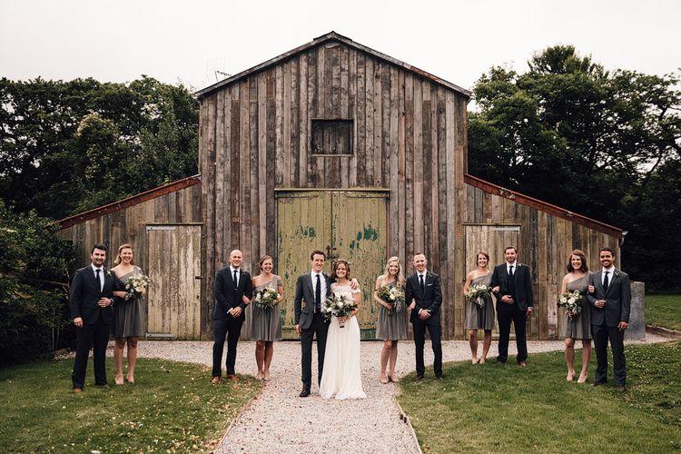 Wedding Party | Rustic Barn Wedding at Nancarrow Farm, Cornwall | Samuel Docker Photography