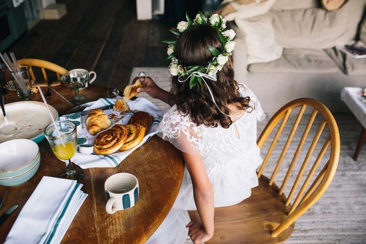 Flower Girl in Flower Crown | Farm Flowers | Soho Farmhouse | Robbins Photographic