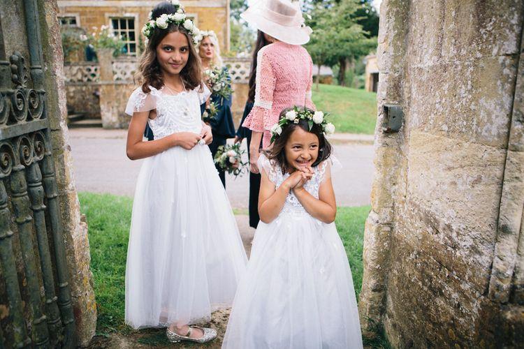 Flower Girls in Flower Crowns | Monsoon | Soho Farmhouse | Robbins Photographic