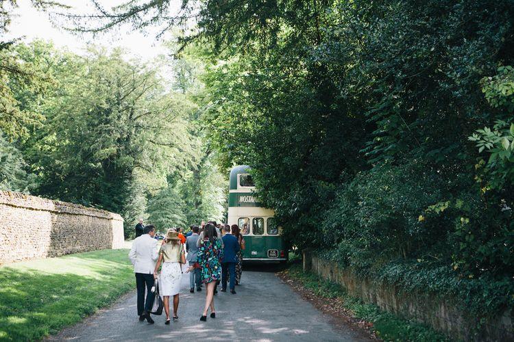 Double Decker Transport to Reception | Soho Farmhouse | Robbins Photographic