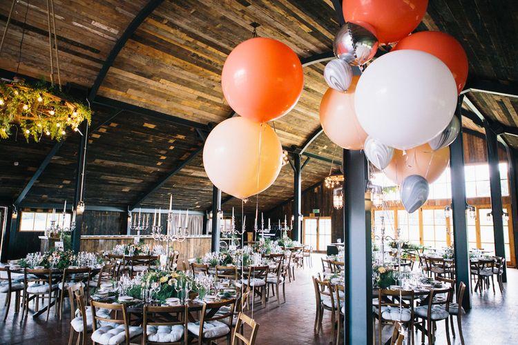 Reception Decor | Balloons | Soho Farmhouse | Robbins Photographic