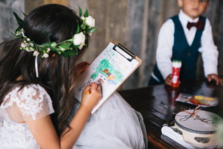 Colouring for the children during the Reception | Soho Farmhouse | Robbins Photographic