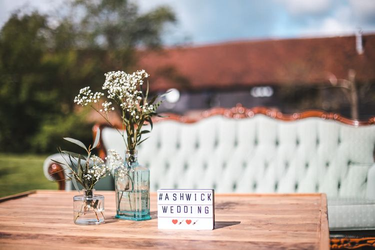 Lightbox Wedding Sign | PapaKåta Sperry Tent at Chafford Park in Kent Countryside | Eve Dunlop Photography | Roost Film Co.
