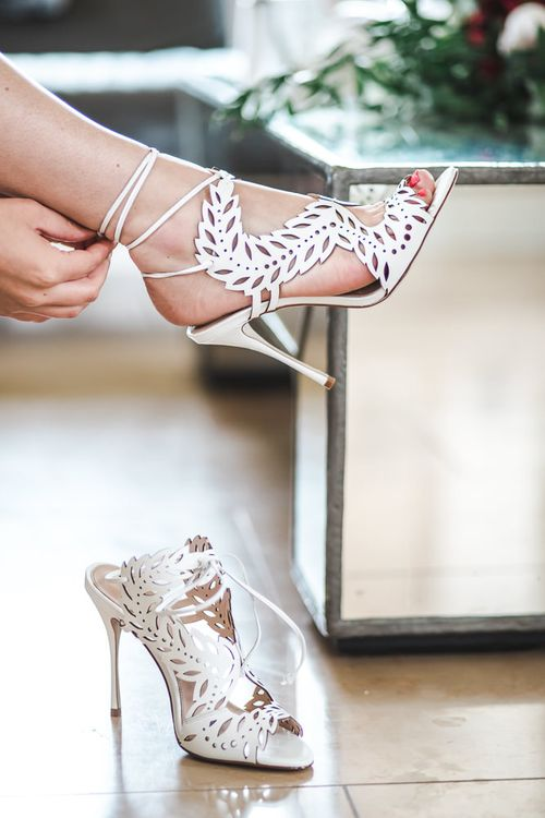 Kurt Geiger Lasercut Wedding Shoes (Sophie Webster Inspired) | PapaKåta Sperry Tent at Chafford Park in Kent Countryside | Eve Dunlop Photography | Roost Film Co.