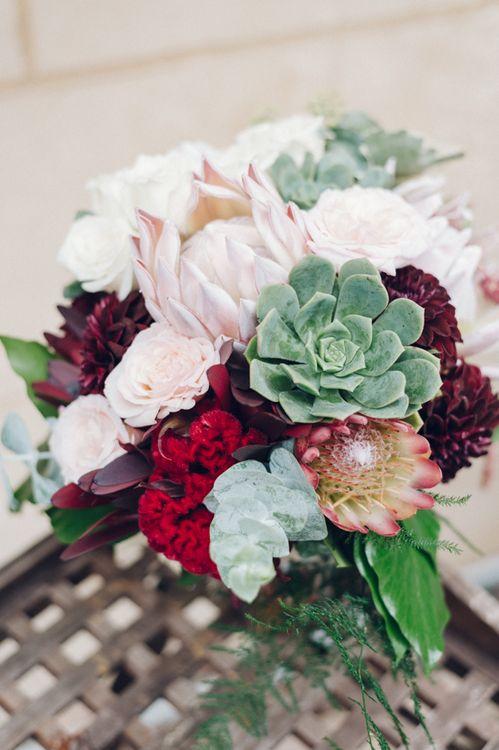 Protea & Succulent Bouquet