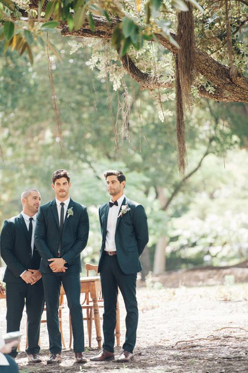 Groomsmen at the Outdoor Altar