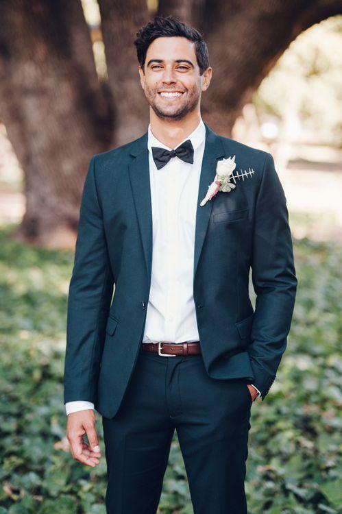 Groom in Tuxedo & Bow Tie
