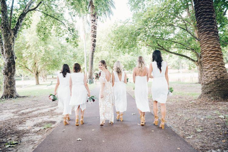 White Boho Bridesmaid Dresses