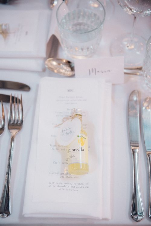 Wedding Favours Place Setting