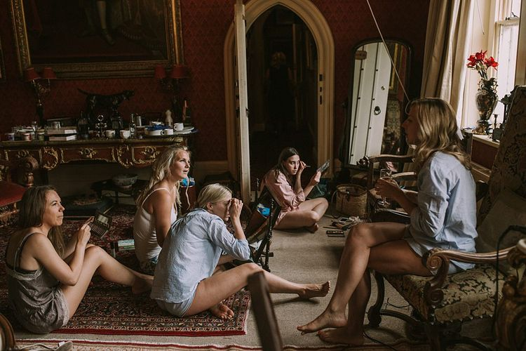 Wedding Morning Preparations | Blue & White Outdoor Summer Wedding at Maunsel House, Somerset | Maureen Du Preez Photography