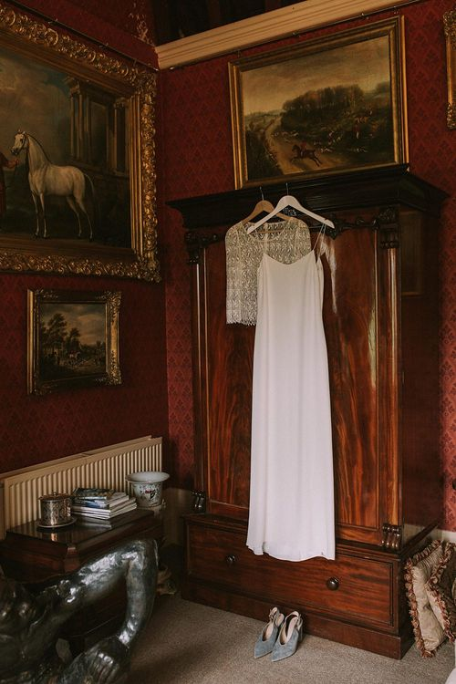 Laure de Sagazan Bridal Gown | Blue & White Outdoor Summer Wedding at Maunsel House, Somerset | Maureen Du Preez Photography