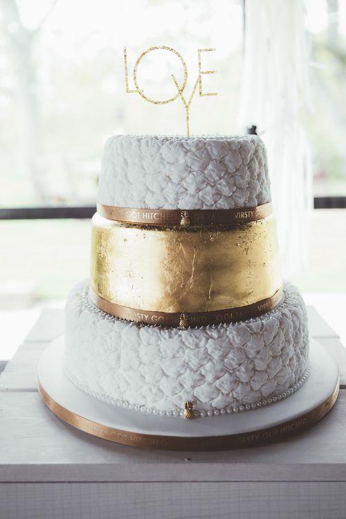 Wedding Cake | Gold Leaf Layer