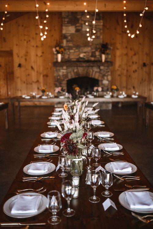 Reception Decor | Outdoor Wedding at Claxton Farm in Weaverville, North Carolina | Benjamin Wheeler Photography
