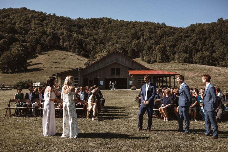 Ceremony | Outdoor Wedding at Claxton Farm in Weaverville, North Carolina | Benjamin Wheeler Photography