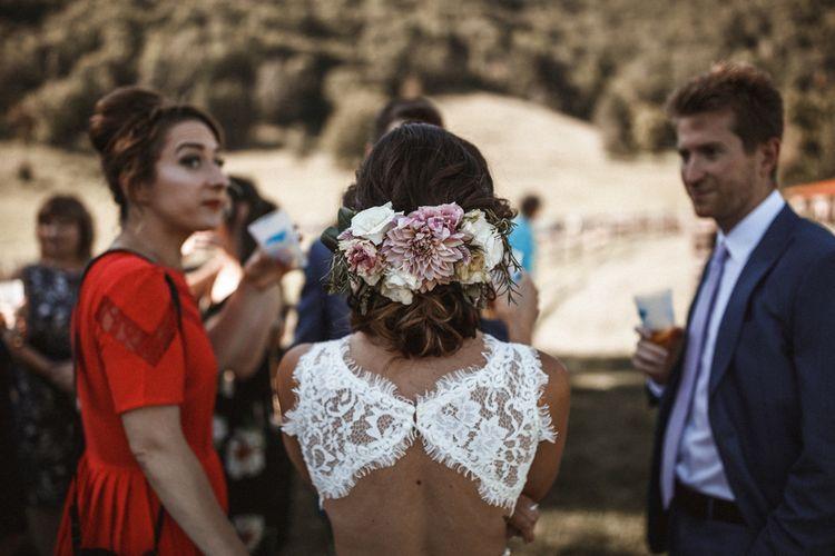 Bride in Venus Bridal Gown | Outdoor Wedding at Claxton Farm in Weaverville, North Carolina | Benjamin Wheeler Photography