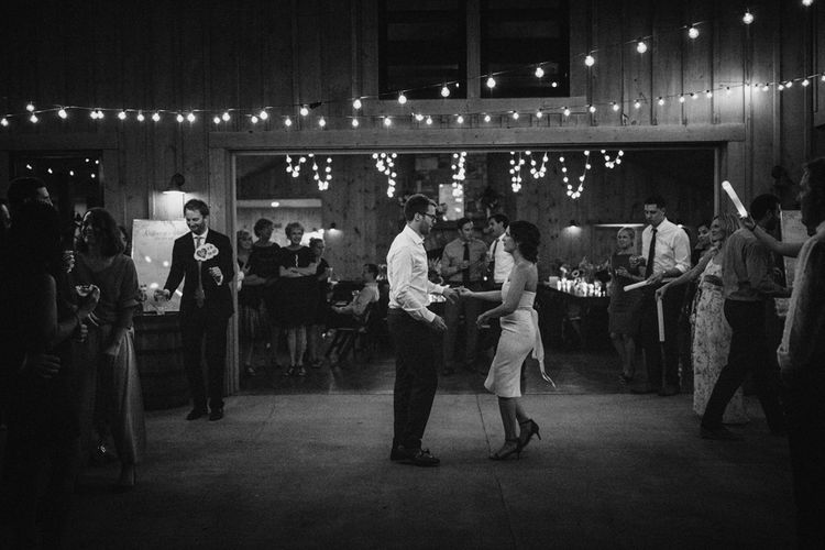 First Dance | Festoon Lights | Outdoor Wedding at Claxton Farm in Weaverville, North Carolina | Benjamin Wheeler Photography