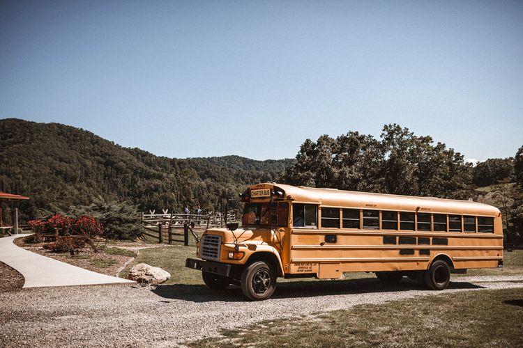 Bus | Outdoor Wedding at Claxton Farm in Weaverville, North Carolina | Benjamin Wheeler Photography