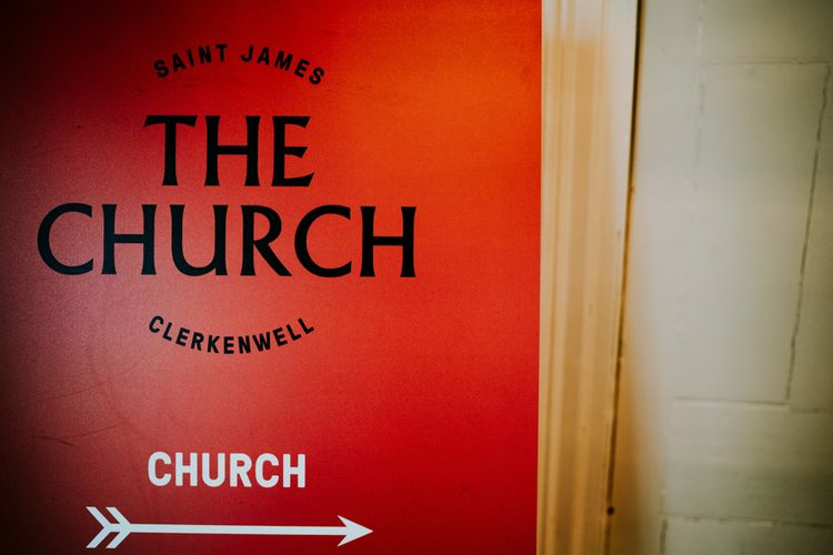 Saint James Church | Contemporary Wedding at the Artisan Bar Clerkenwell, London | Bridgwood Wedding Photography | Long Story Short Film