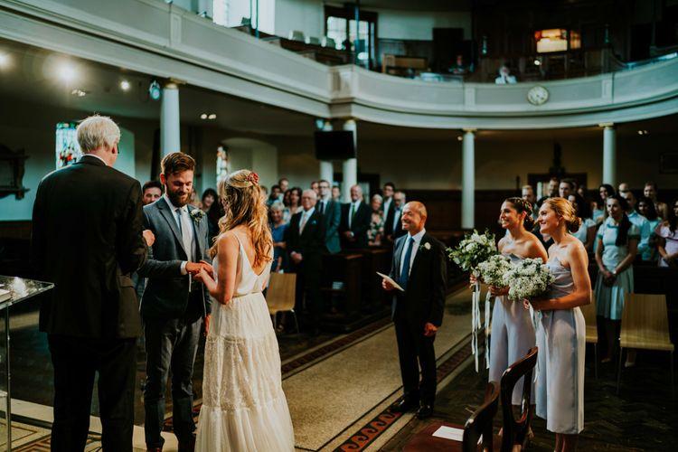 Wedding Ceremony at Saint James Church Clerkenwell | Contemporary Wedding at the Artisan Bar Clerkenwell, London | Bridgwood Wedding Photography | Long Story Short Film