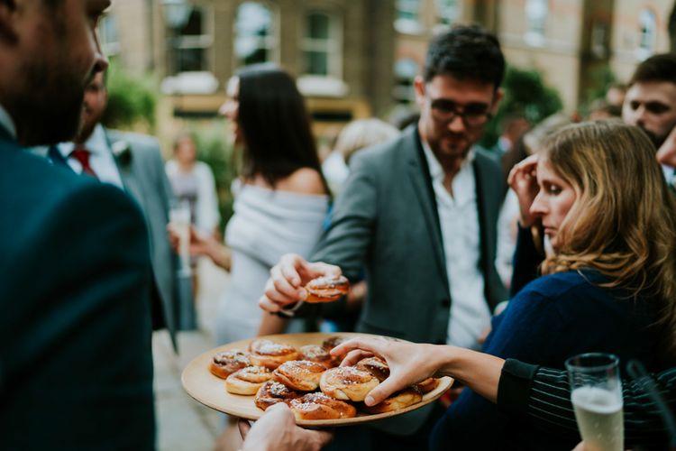 Swedish Cinnamon Buns | Contemporary Wedding at the Artisan Bar Clerkenwell, London | Bridgwood Wedding Photography | Long Story Short Film