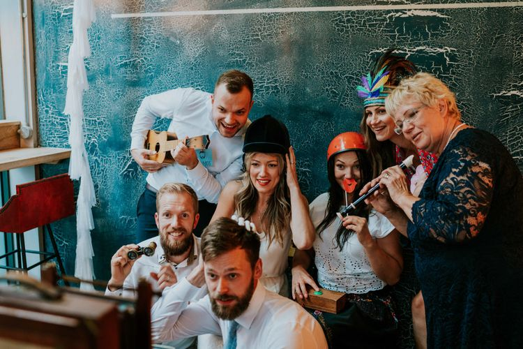 Photo Booth Pictures | Contemporary Wedding at the Artisan Bar Clerkenwell, London | Bridgwood Wedding Photography | Long Story Short Film