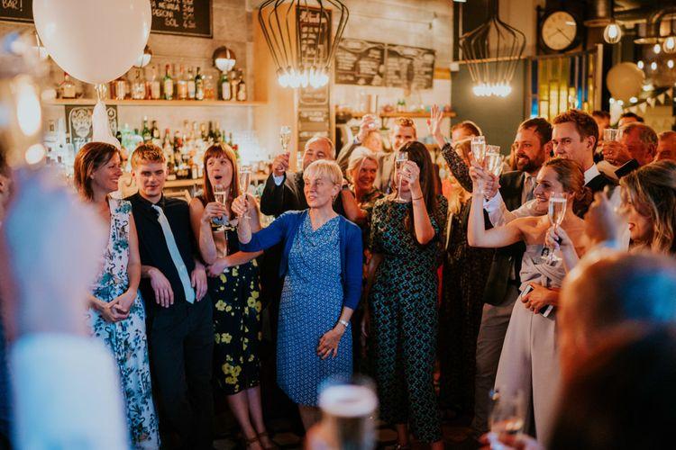 Speeches | Wedding Guests | Contemporary Wedding at the Artisan Bar Clerkenwell, London | Bridgwood Wedding Photography | Long Story Short Film