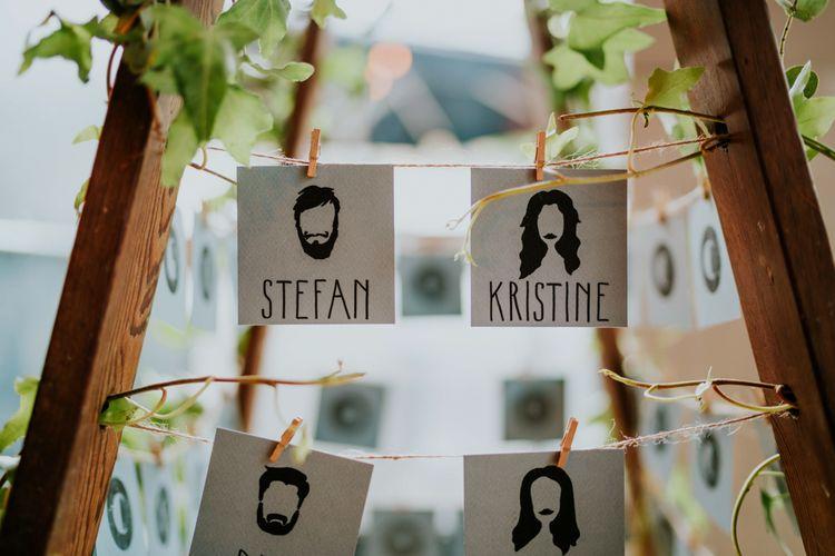 Escort Cards | Contemporary Wedding at the Artisan Bar Clerkenwell, London | Bridgwood Wedding Photography | Long Story Short Film