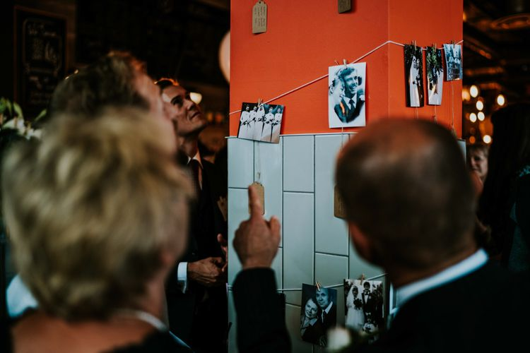 Polaroid Picture Wedding Decor | Contemporary Wedding at the Artisan Bar Clerkenwell, London | Bridgwood Wedding Photography | Long Story Short Film