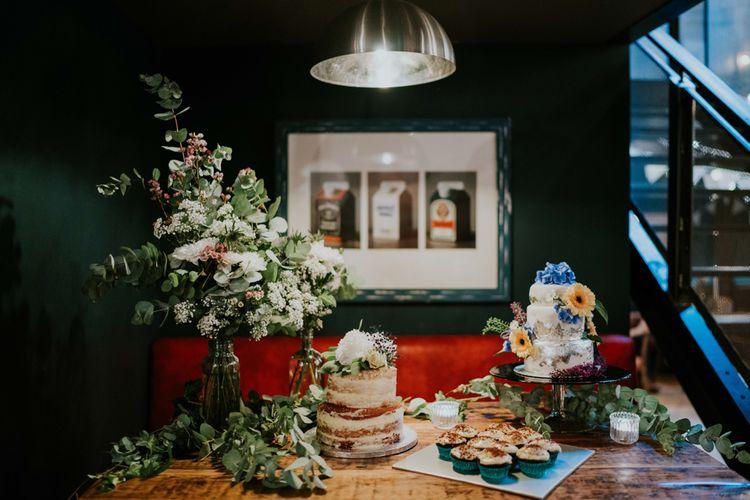 Wedding Cake Table | Contemporary Wedding at the Artisan Bar Clerkenwell, London | Bridgwood Wedding Photography | Long Story Short Film
