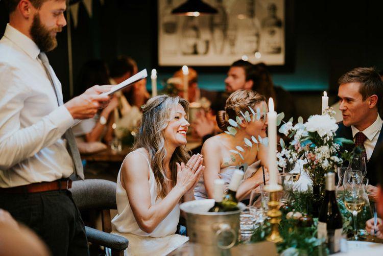Speeches | Contemporary Wedding at the Artisan Bar Clerkenwell, London | Bridgwood Wedding Photography | Long Story Short Film