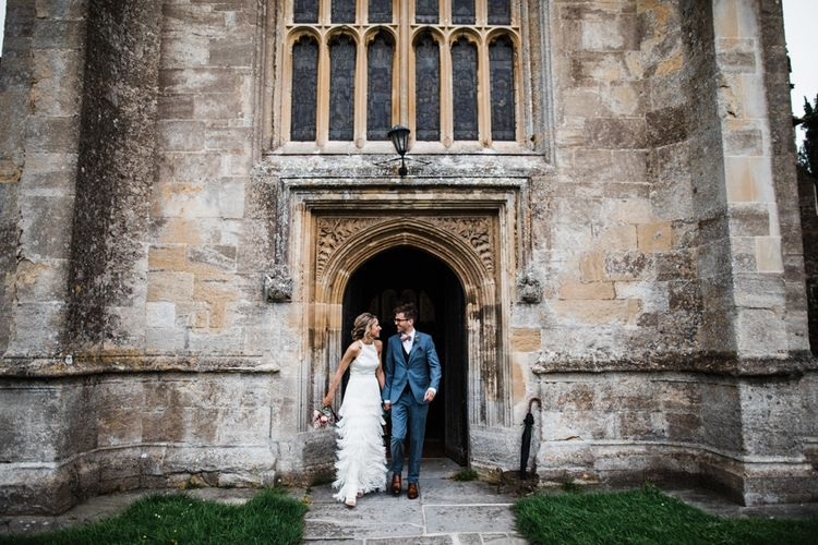 Outside St Mary's Church in Burton, The Cotswolds. Image by Through the Woods We Ran.