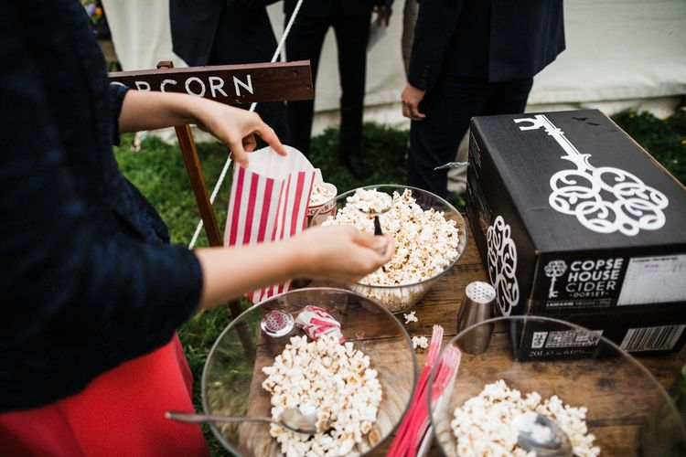 Popcorn and Cider from Copse House Cider. Image by Through the Woods We Ran.