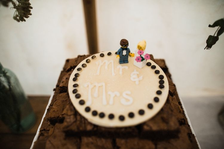 Simple Wedding Cake. Image by Through the Woods We Ran.