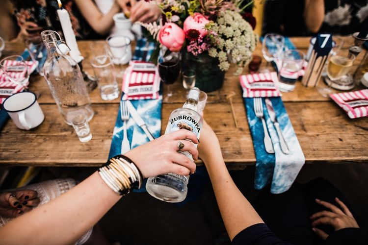 Vodka wedding drinks. Image by Through the Woods We Ran.