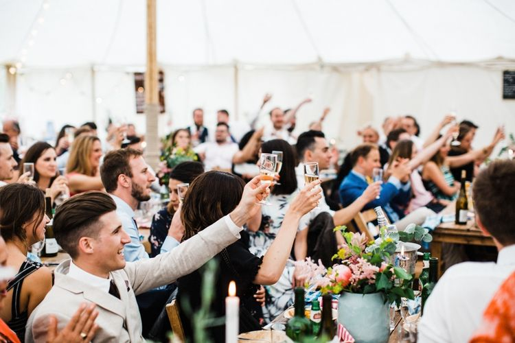 Vodka Wedding toast. Image by Through the Woods We Ran.
