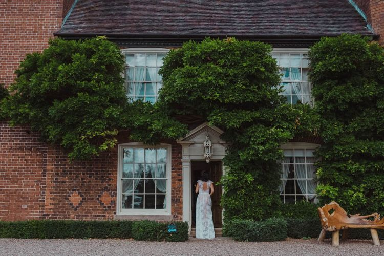 Intimate Garden Party Wedding at The Parsonage in The Cotswolds. Bride in Tatyana Merenyuk with Photography by Claudia Rose Carter.