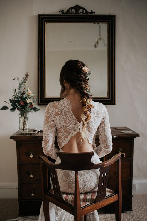 Beverly from the Romantique California Dreamin collection by Claire Pettibone in Ivory with a Nude lining
